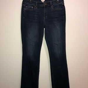 J CREW Size 29R Bootcut Stretch Jeans Dark Wash